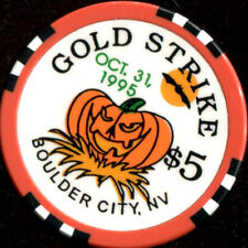 $5 Boulder City Gold Strike October 31st, 1995 Casino Chip
