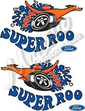 SUPERROO - GT FALCON - 200mm x 120mm MIRRORED PAIR - CAR DECAL
