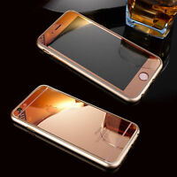 Front+Back Mirror Effect Tempered Glass Case Screen Protector for iPhone 7 Plus