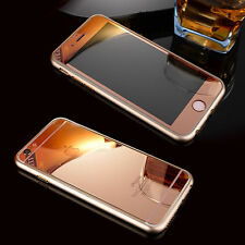 Front+Back Rose Gold Mirror Tempered Glass Screen Protector for iPhone 5/5S SE