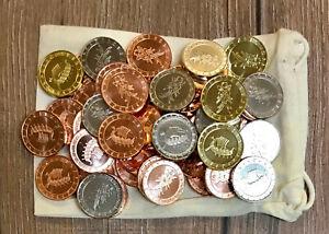 50 Larpmünzen Nordmann + Beutel - Larpgeld - LARP Münzen Spielgeld