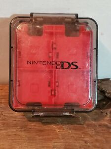 Clear/Red 16-in-1 Game Hard Case Nintendo DS DSi 3DS Cartridge Holder travel