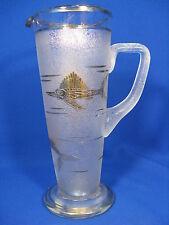 """Schöne Art Déco Design FÜGER & TAUBE  Glas Karaffe / decanter """" Schwertfische """""""