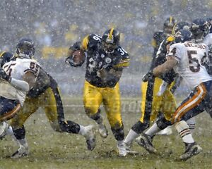 Jerome Bettis Pittsburgh Steelers running back snow 8x10 11x14 16x20 photo 437