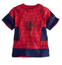 Disney Store Amazing Spiderman Costume Shirt Boys Size 4 Super Hero Movie Tee