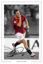 FRANCESCO TOTTI ROMA AUTOGRAPH SIGNED PHOTO PRINT ITALY AUTOGRAFO