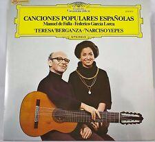 *-Vinyl-LP - CANCIONES Populares ESPANOLAS - Teresa BERGANZA/Narciso YEPES