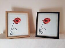 Framed Poppy Fine Art Giclee Print (Wood Effect Frame)