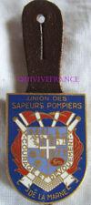 IN10636 - Insigne Union Des Sapeurs Pompiers de la MARNE, émail