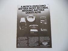 advertising Pubblicità 1980 HEUER MICROSPLIT 250/231/221