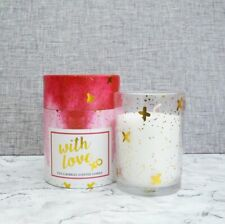 Candlelight WITH LOVE Champagne SCENTED Glass Pot JAR CANDLE Gift Boxed