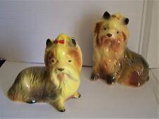 2 Vintage YORKSHIRE TERRIER / YORKIE DOG Figurines / Ornaments
