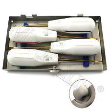 LUXATING-Titanio-cirugía de raíz quirúrgicos dentales Periotome herramientas 4PCS Medentra ® CE