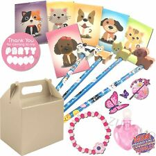 Pre Filled Girls Party Bags Silver Box Birthday Wedding Gifts Favours Children