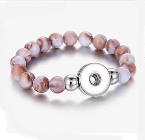 Hot 1pcs Alloy Chunks Beaded bracelet for noosa snaps chunk charm button U PICK