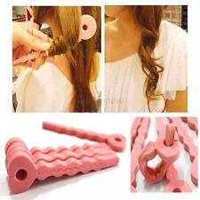 New Fashion 6Pcs Pink Soft Hair Curler Sponge Spiral Curls Roller DIY Salon Tool