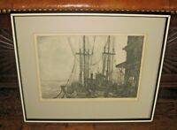"""PARTEE (John Irwin Friedman) 1976 Etching """"Going Out"""" LE 23/100 Signed & Framed"""