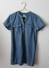 J.Crew Factory Denim Jean Shirt Shift Dress Size 6 Cute Career Chambray
