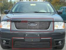 Billet Grille Insert 05 - 07 Ford Free style Front Grill Aluminum Logo Show 3pc