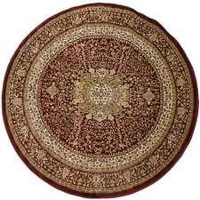 Tappeto Classico Rotondo Art. Obama 160x160 cm Rosso M394