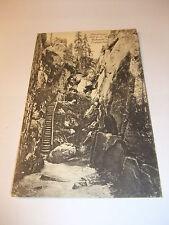 Postkarte Ansichtskarte AK PK Die Heuscheuer Rübezahl Lustgarten Schlesien v1945