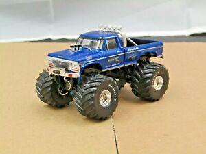 dcp/greenlight blue Bigfoot f250 monster truck new no box 1/64.