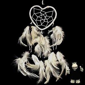 Small White Heart Dream Catcher - Kids Bedroom Nursery Xmas Stocking Filler Gift