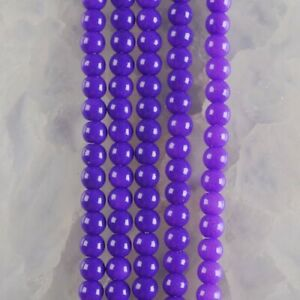 """HP1248-n 4mm Baked Porcelain Glass Ball Loose beads 16"""""""