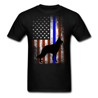 K9 Heroes Police Dog German Shepherd Thin Blue Line Men's T-Shirt