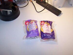 Lot of 2-McDonald's Ty beanie Babies Bushy the Lion & Springy the Lavender Bunny