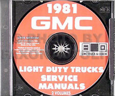 1981 GMC Shop Manual Set on CD Sierra Truck Van Jimmy Suburban C K G P 1500-3500