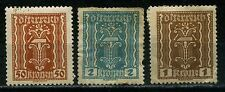 1922 to 1924 Austria 7 stamps  Scott Cat No. 264 251/2 268 270/2/5 used & MH