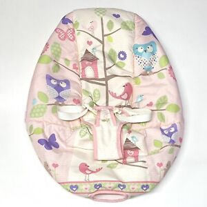 Fisher Price Tree Party Comfy Time Baby Bouncer Seat Cover W9457 Pink Owls