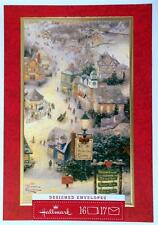 Hallmark Thomas Kinkade 16 Christmas Cards ST NICHOLAS CIRCLE Village Snow Scene