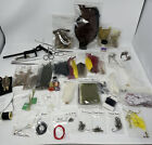 Large Lot Vintage Fly Fishing Tying Material Craft DIY Feathers Fur Hooks Tools