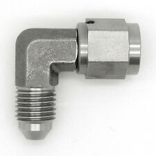 AN-4 STAINLESS STEEL 90 Degree MALE to FEMALE Forged Elbow Hose Fitting Adapter