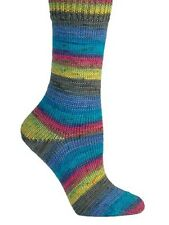 Berroco ::Berroco Sox #1406:: sock yarn Blue-Lemon-Lime-Fuchsia