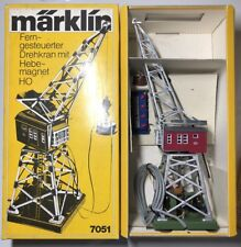 Märklin 7051 H0 Ferngesteuerter Drehkran mit Elektromagnet + Stellpult - OVP!!!