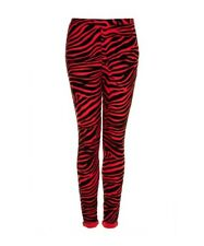 BNWT TOPSHOP RED ZEBRA FLOCK TREGGINGS UK 10