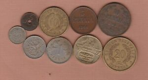 NINE FINLAND COINS 1865 TO 1984 IN FINE OR BETTER CONDITION.