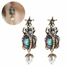 Punk Womens Rhinestone Star Insect Skull Pearl Drop/Dangle Stud Earrings Jewelry