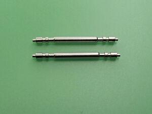 2 Spring Bars 12 - 22mm Fit Rolex Steel Pin 1.78 Ø Watch Leather Bracelet Strap