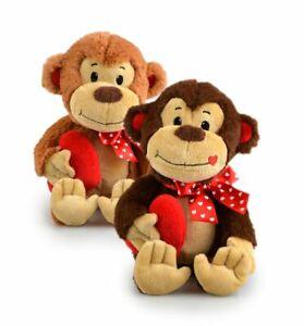 Luv Soft Toy Stuffed Monkey Heart 22cm Birthday Mother's Day Gift Present