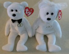 Mr. & Mrs. Ty Wedding Beanie Babies w/Tags 2001 Bride & Groom