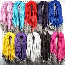 50Pcs Wholesale Lots Mixed Color Leather Chains Necklace String Choker Bracelet
