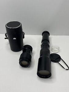 Five Star 500mm f8 Manual Focus Lens And Tamron 70-210mm Japan