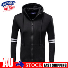 New listing Fashion Spring Zipper Coats Men Stripe Sport Hoodies Stand Collar Clothes
