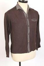 New listing Vintage 60s Da Vinci Cotton Rayon Loop Collar Shirt Usa Mens Size Medium