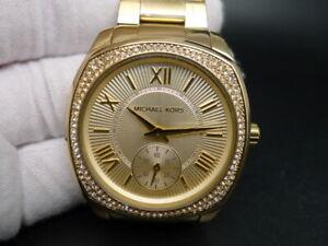 NEW OLD STOCK MICHAEL KORS BRYN MK6134 GOLD PLATED QUARTZ WOMEN WATCH