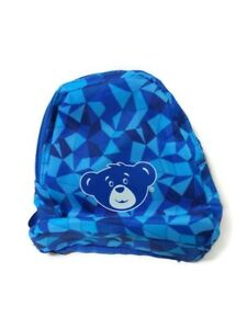 Build A Bear Backpack Book Bag Blue Toy Accessory